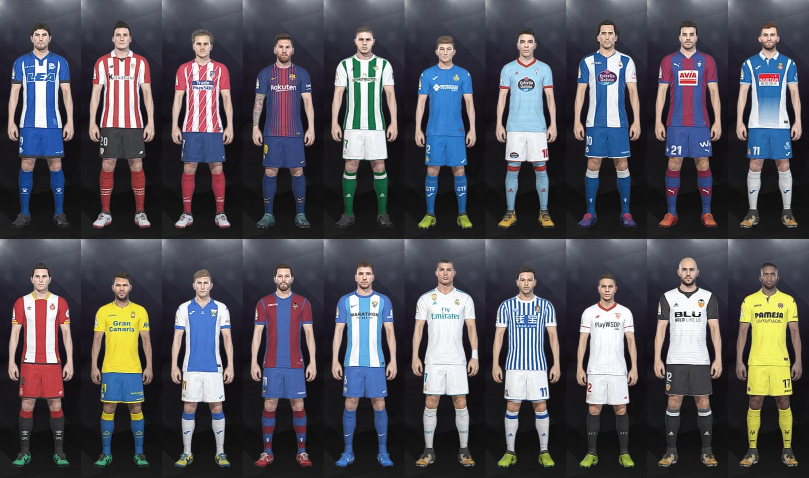 LaLiga Santander Kits 17-18 (CPK Folder)