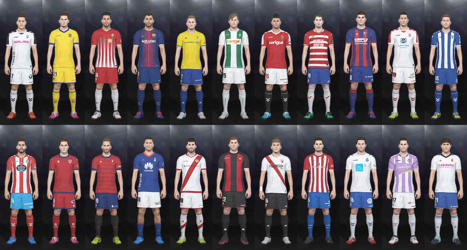 LaLiga 1|2|3 Kits 17-18 (CPK Folder)