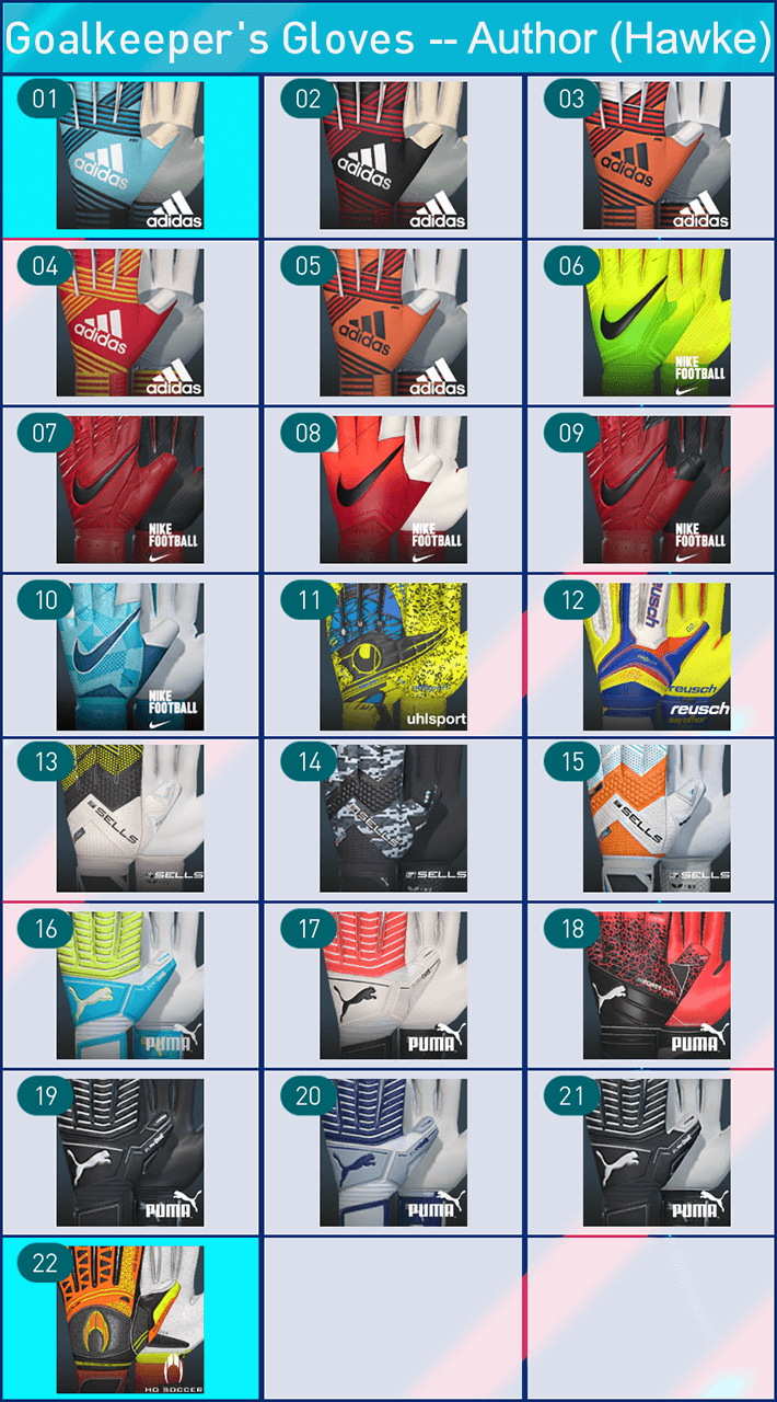 Glove Pack Vol:1 by Hawke