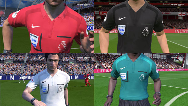 EPL Referee Kits 17/18 by Hendri SimZ