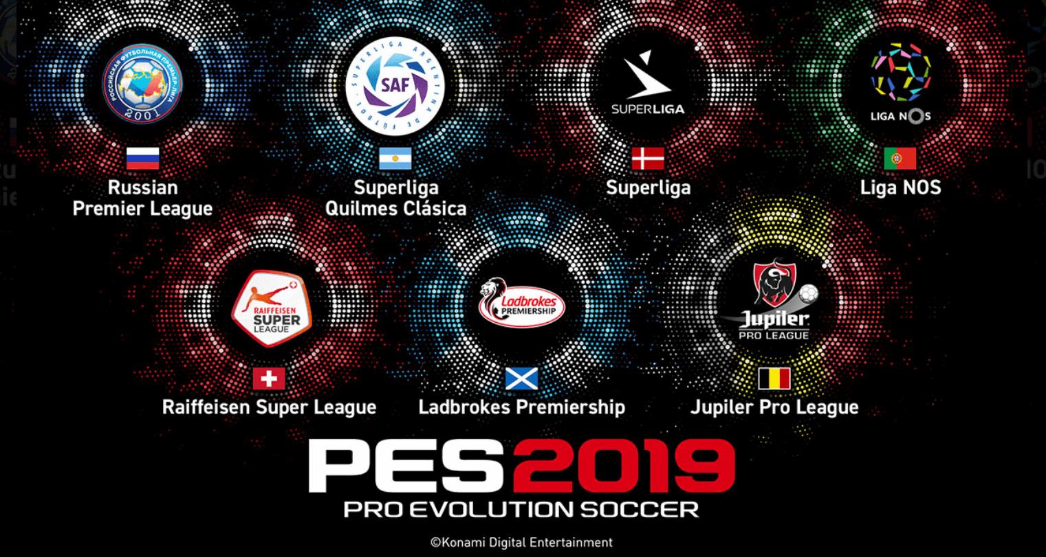 PES 2019 anuncia siete nuevas ligas licenciadas
