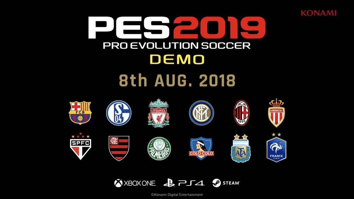 La demo de PES 2019 ya tiene fecha de salida