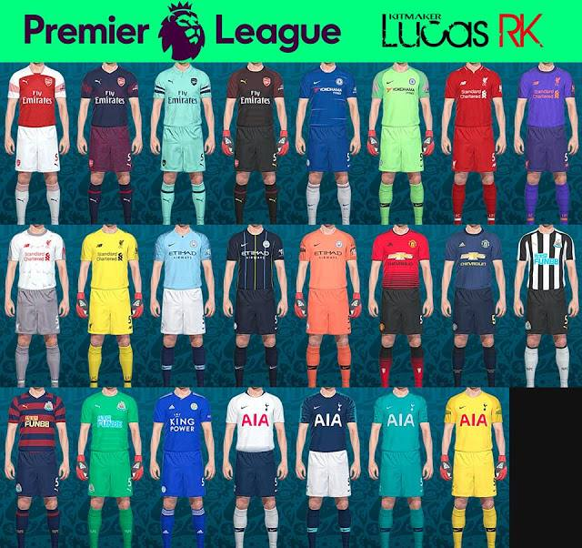 Premier League kitpack 2019 by Lucas RK