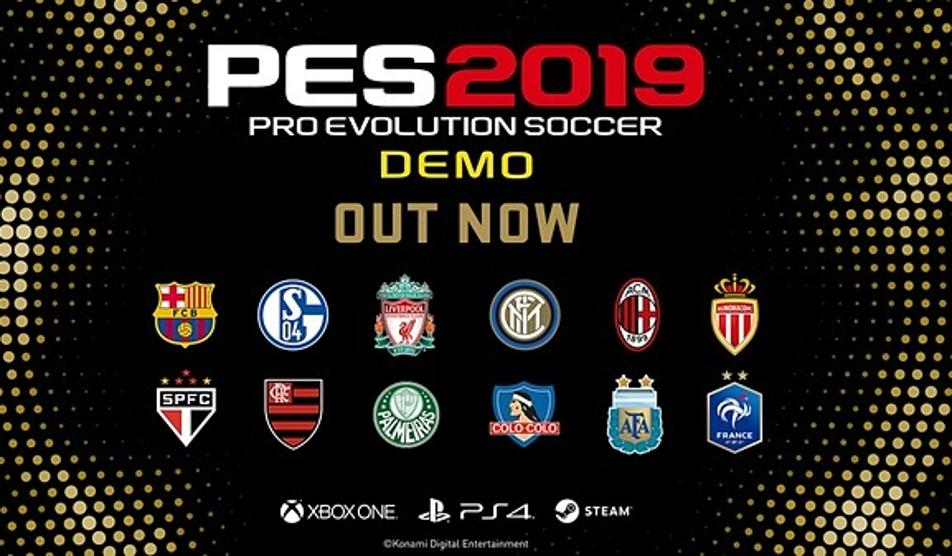 PES 2019: Ya disponible la DEMO gratuita