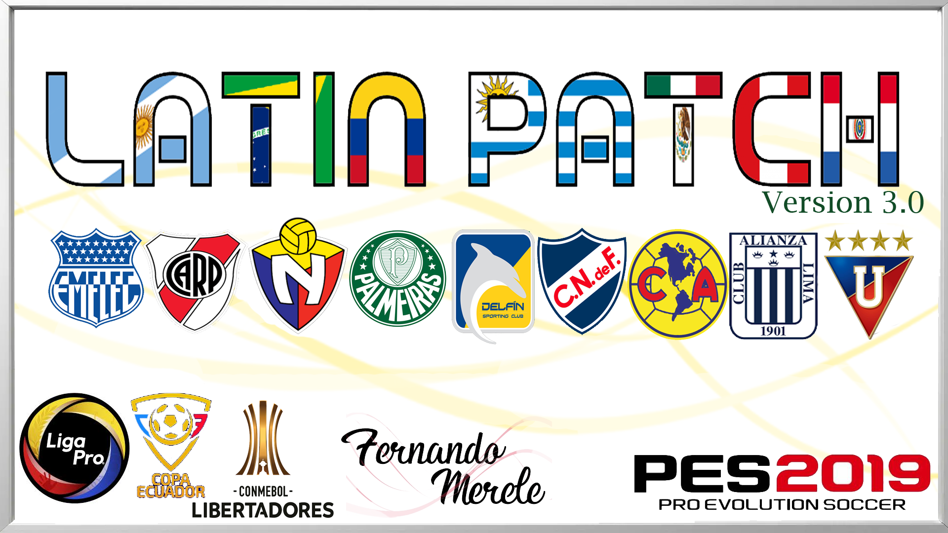 Latín Patch V3 para PES 2019 de PC
