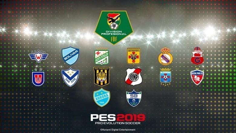 Disponible la Liga Boliviana para PES 2019