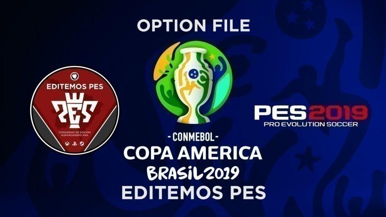 Editemos PES OF Copa América Brasil 2019 para PES 2019