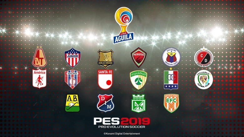 Disponible el OF de la Liga Águila para PES 2019