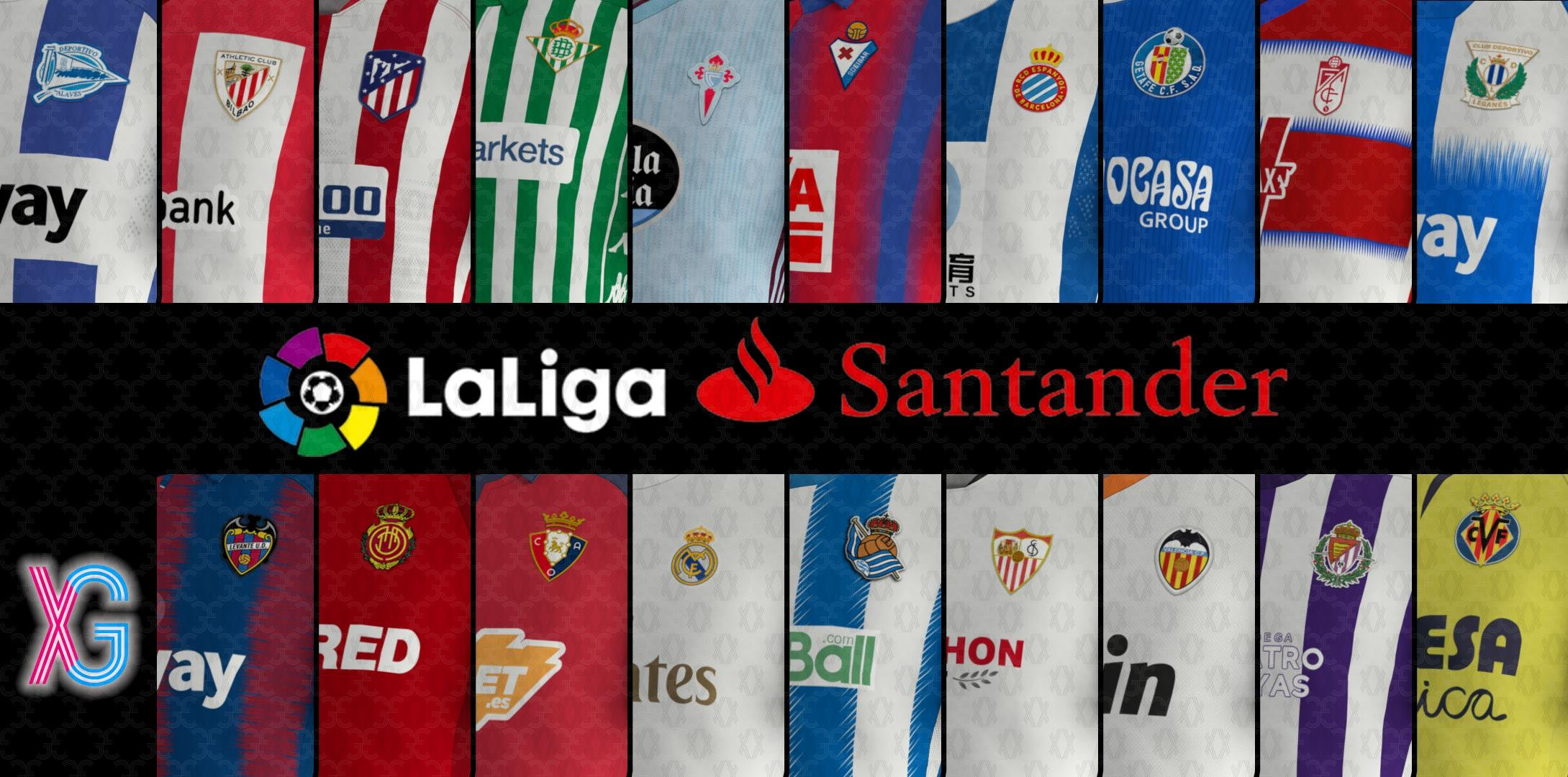 Kits and press rooms for LaLiga Santander 19/20 by Xurgen PES