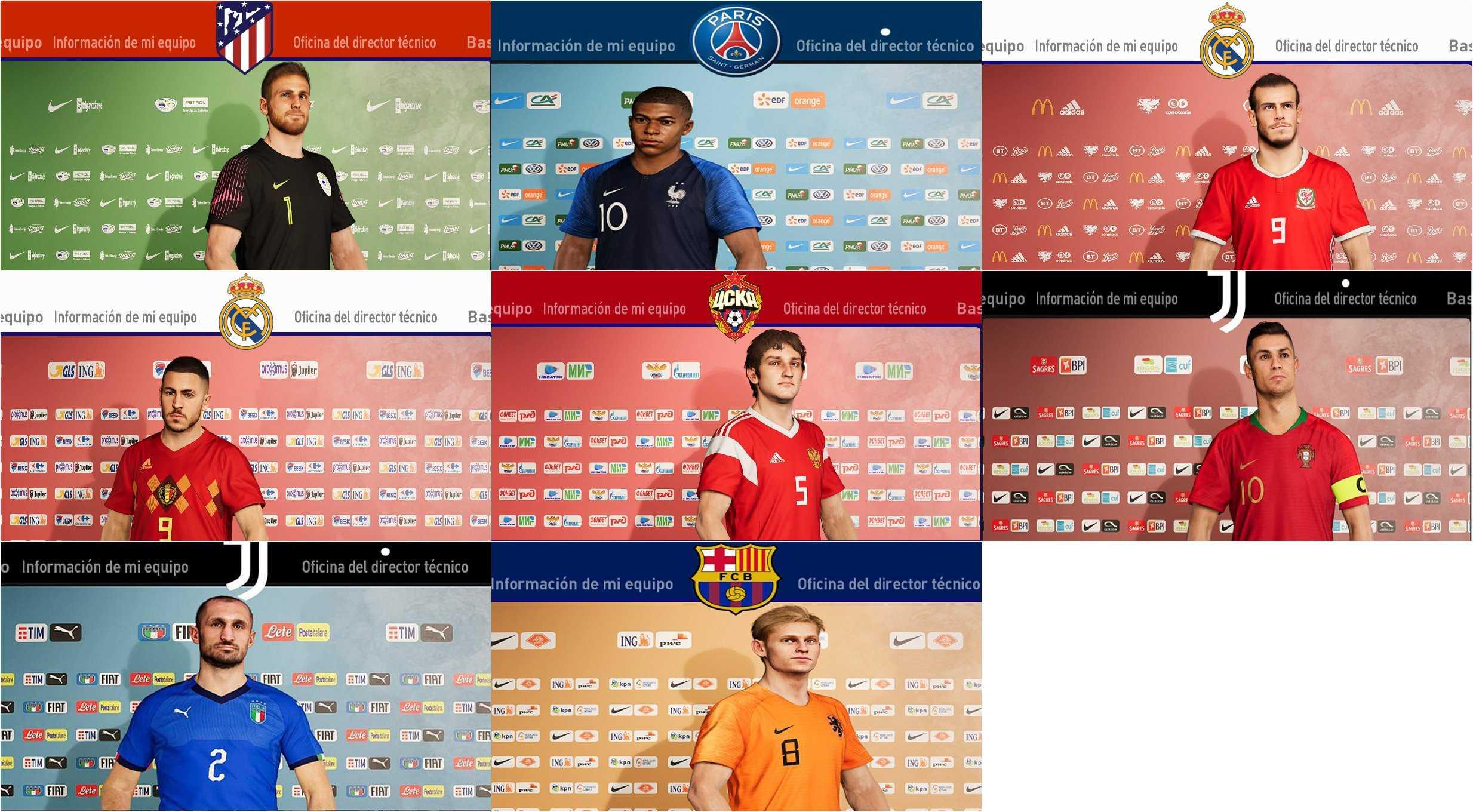 eFootball PES 2020 Salas de prensa de 36 selecciones Nacionales Europeas by xcdf86