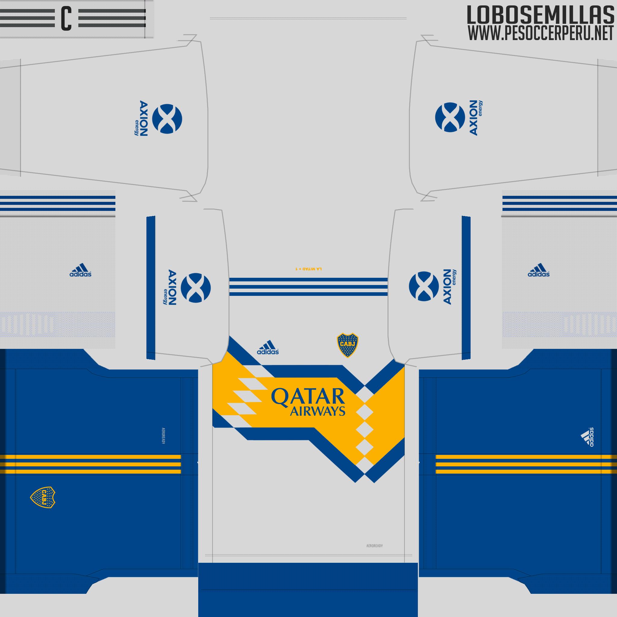 Tercera equipación Boca Juniors by Lobosemillas