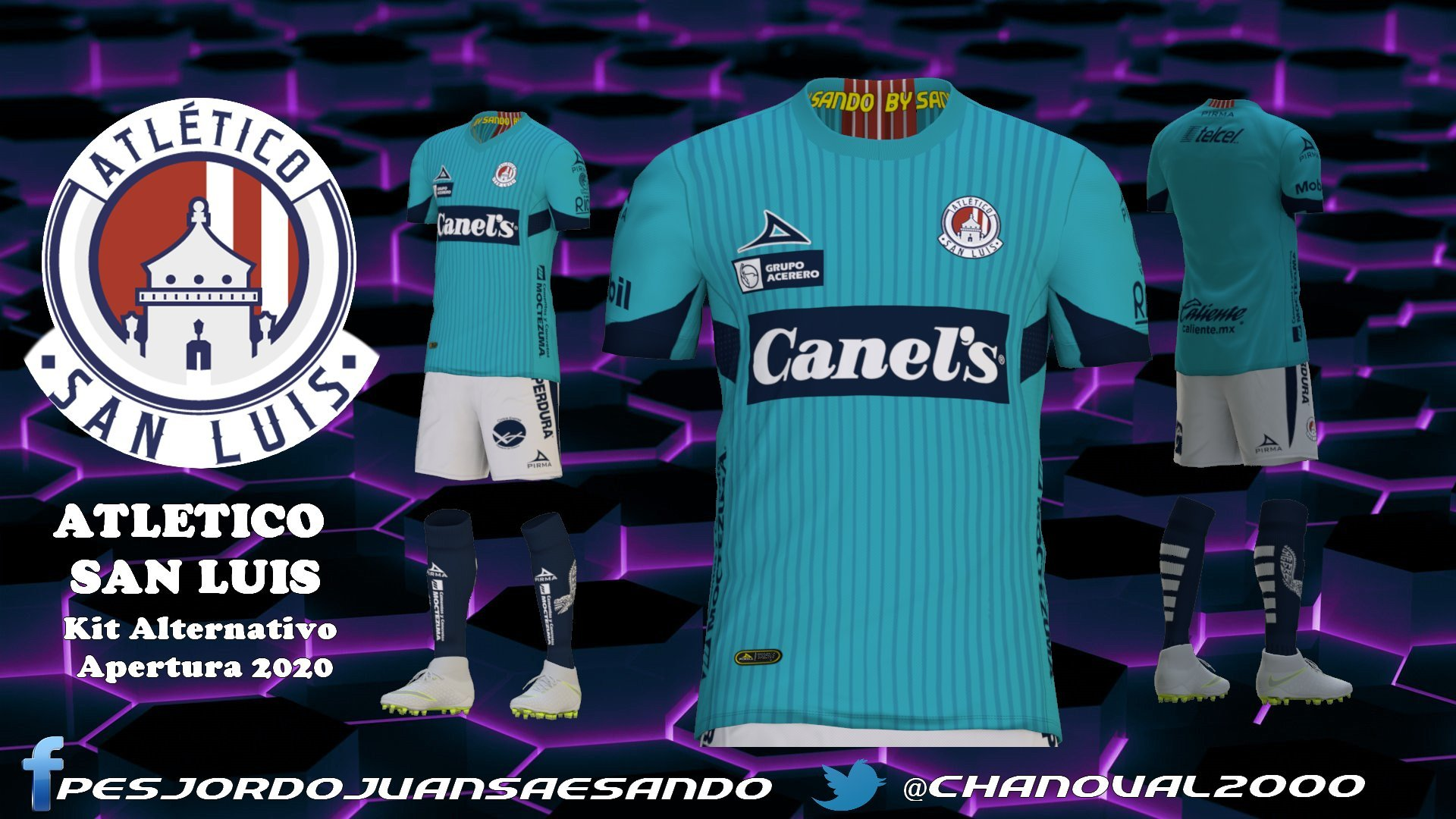 Kit alternativo Atlético San Luis by Sando