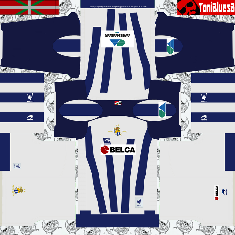 Kits retro Real Sociedad (centenario) by Toniblues8