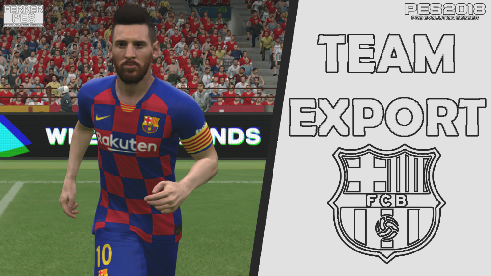 FC Barcelona Team Export by FerrerPes