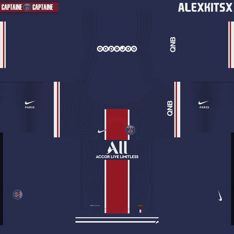 Kit Paris Saint Germain 2020/2021 by Alexkitsx