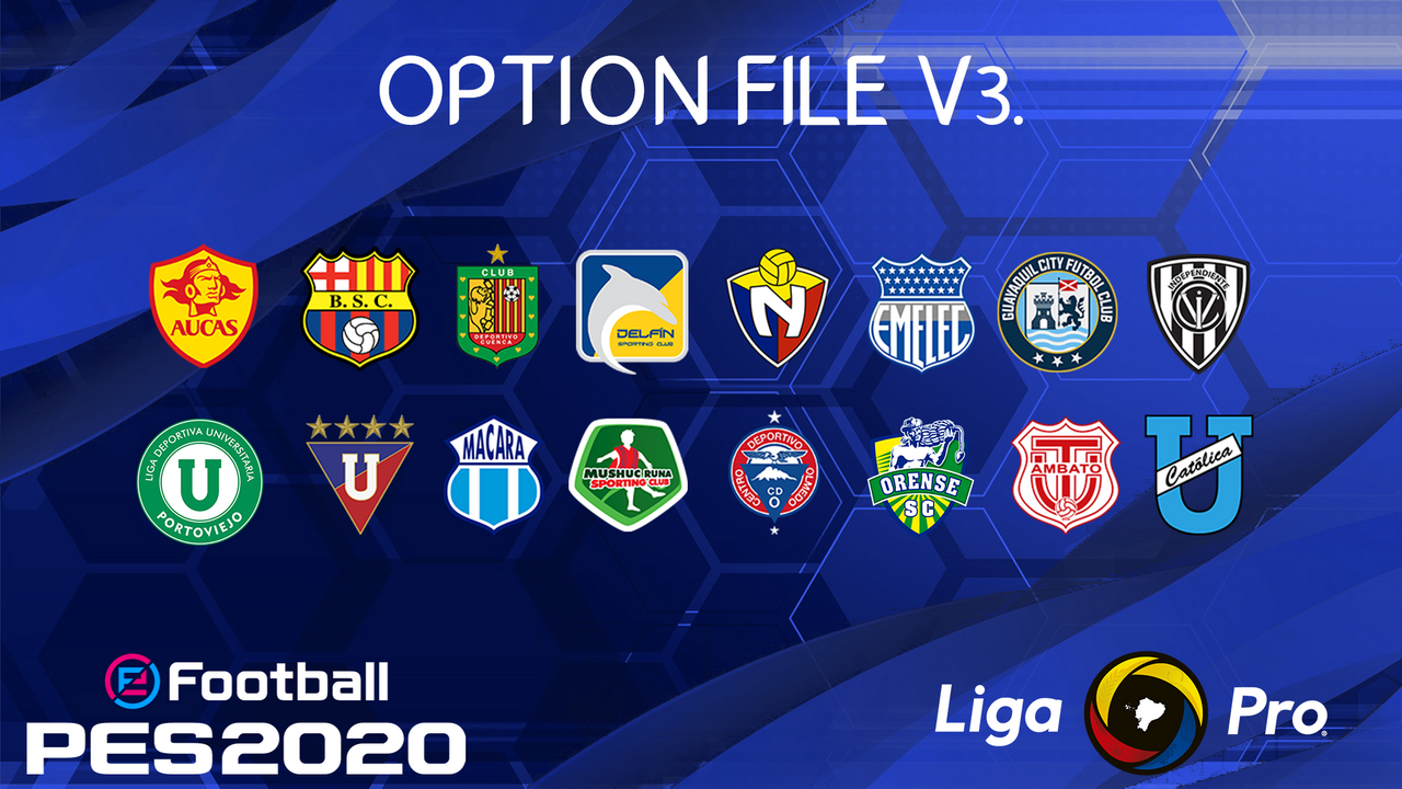 Option File Liga Pro Ecuador v3 by PES AF13-TM