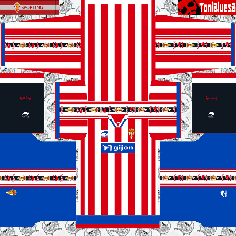 Kits retro Sporting de Gijón (1999) by Toniblues8