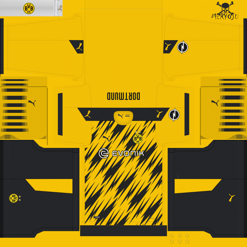 Home kit Borussia Dortmund 2020/2021 by Meryoju
