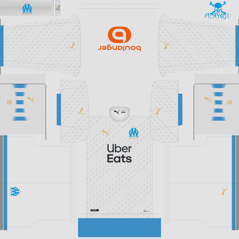 Home kit Olympique de Marsella 2020/2021 by Meryoju