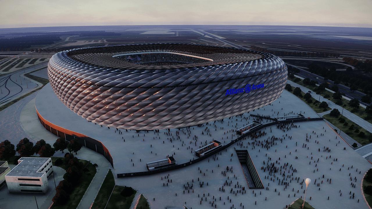 Aerial view Olímpico de Roma & Allianz Arena + Update Signal Iduna Park by Jostike