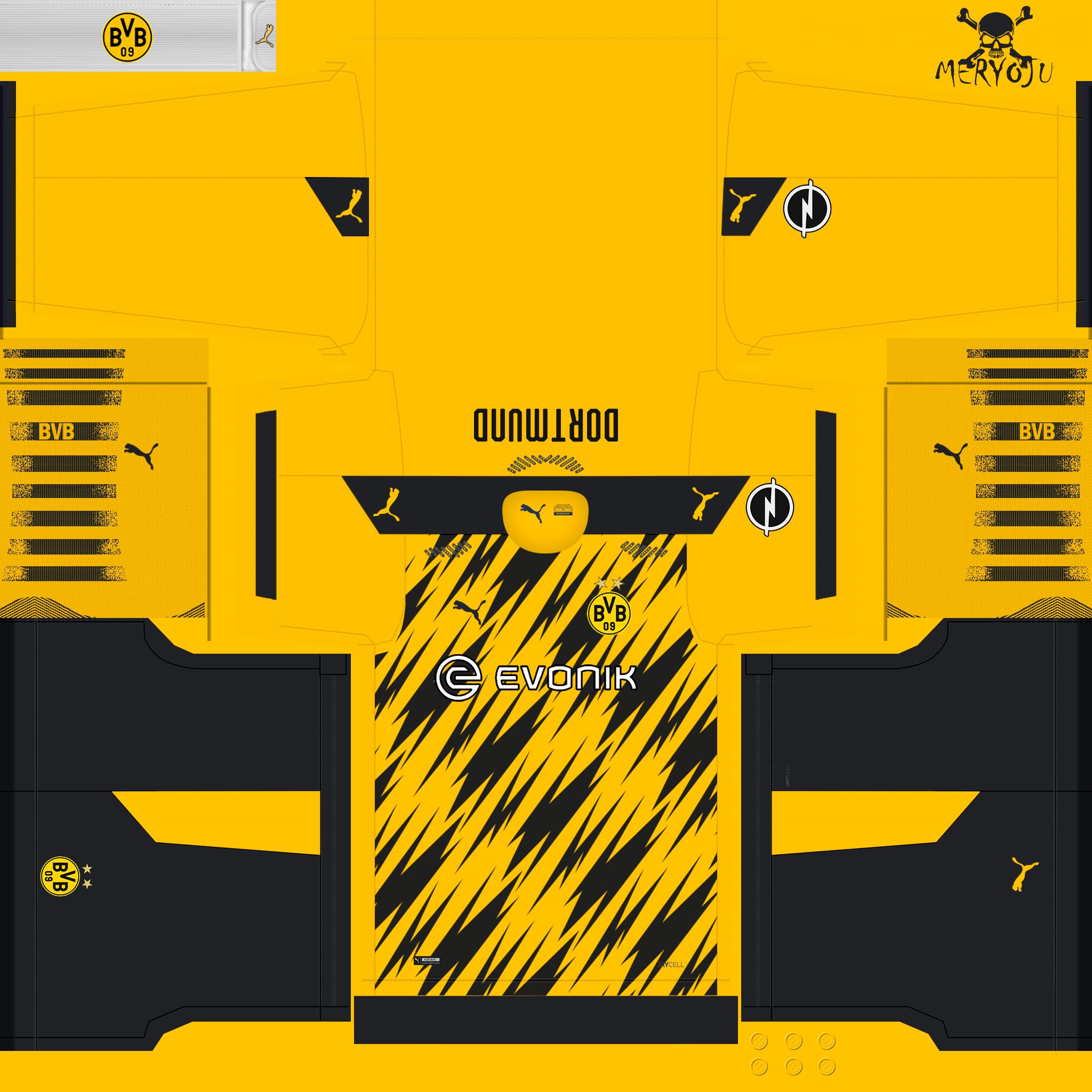 Kits Borussia Dortmund 2020/2021 by Meryoju