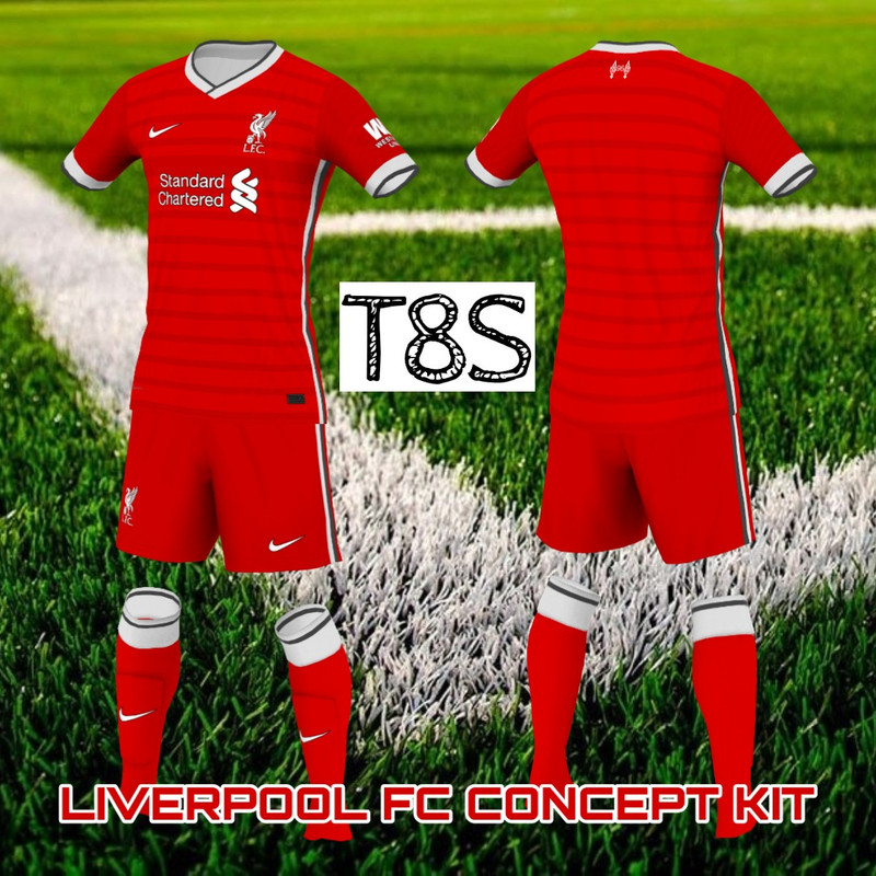 Liverpool & Manchester City kits concept by T8S
