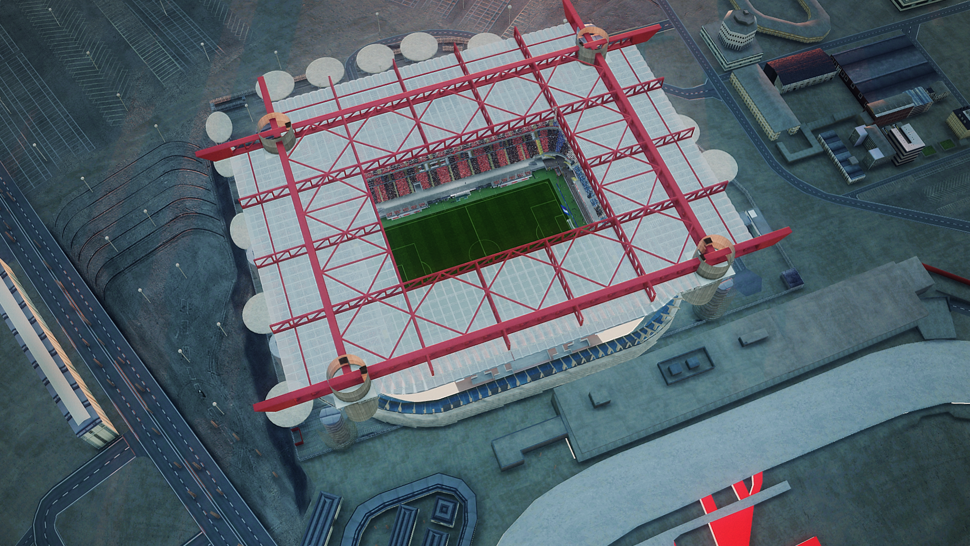 Aerial view San Siro + Allianz Arena update by Jostike