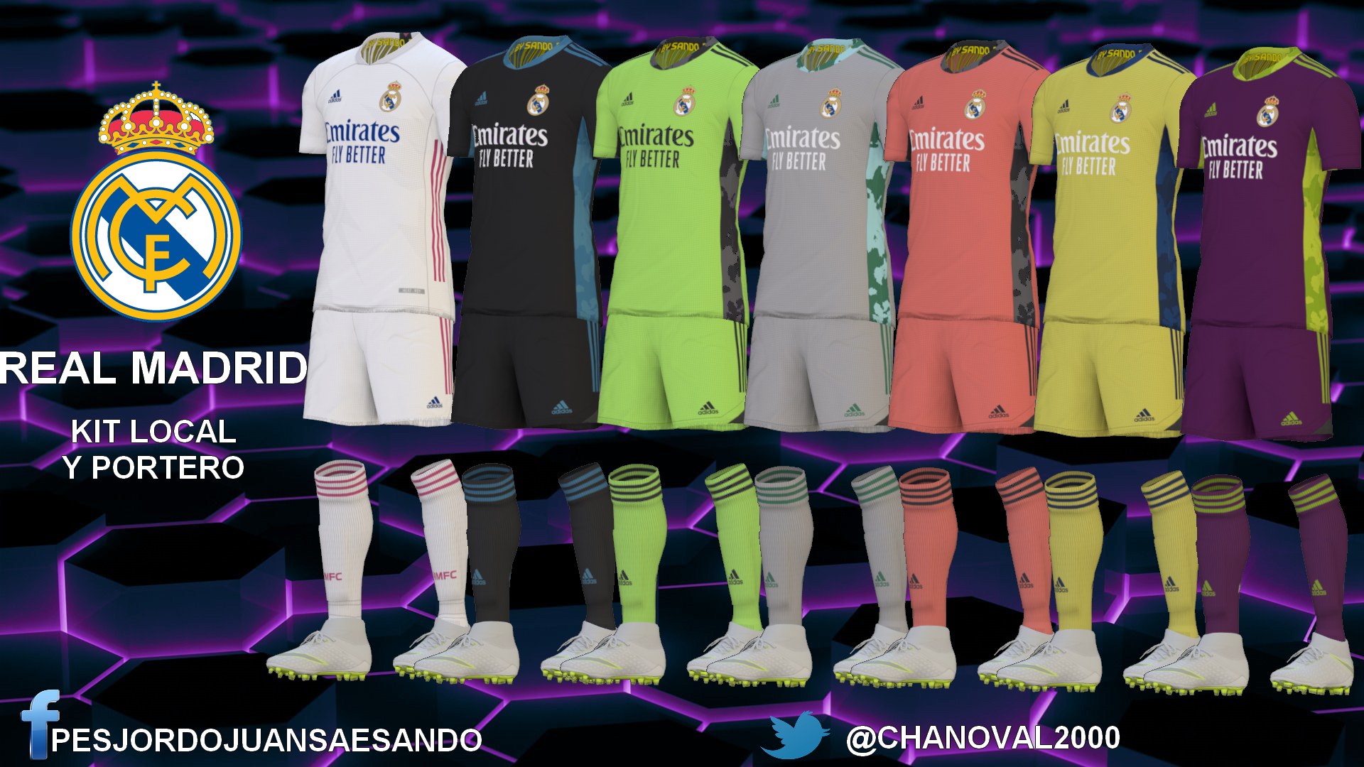 Kits Real Madrid 2020/2021 by Sando