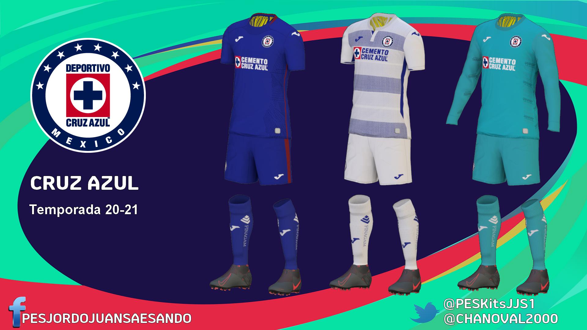 Kits Cruz Azul 2020/2021 by Sando