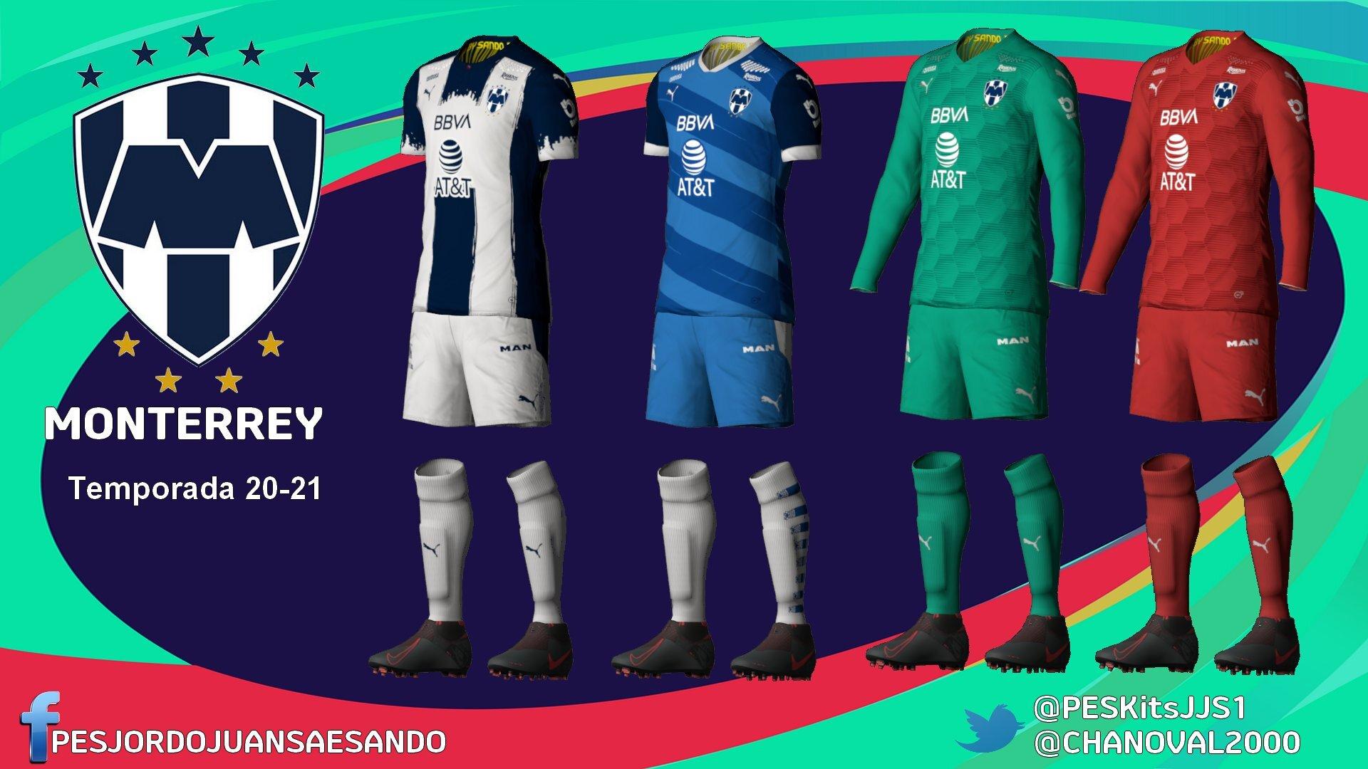 Kits CF Monterrey 2020/2021 by Sando