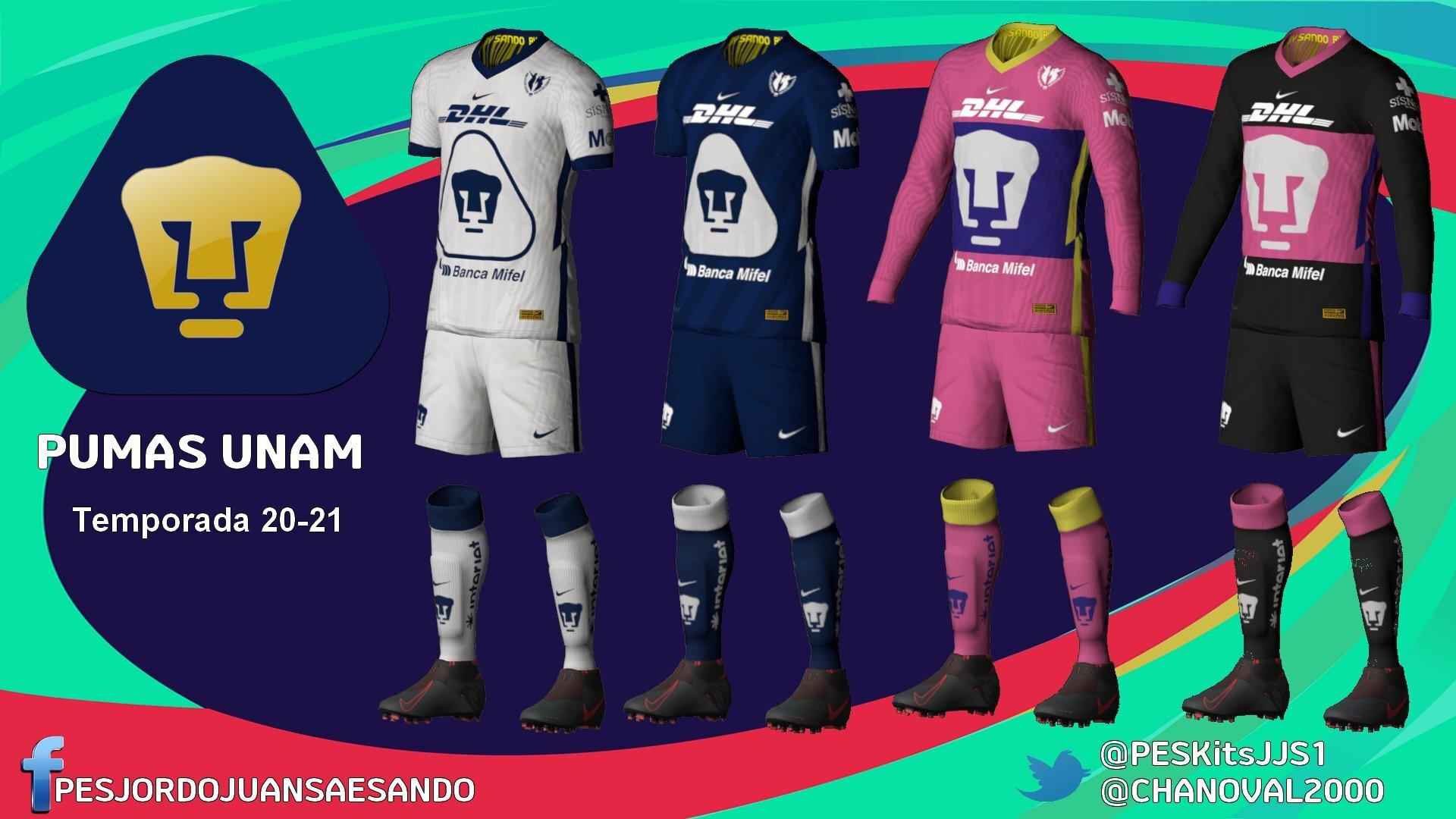 Kits Pumas UNAM 2020/2021by Sando