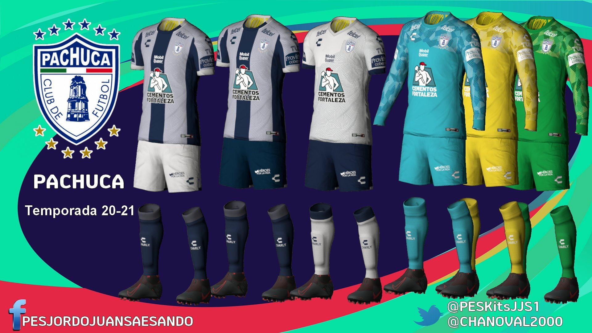 Kits CF Pachuca 2020/2021 by Sando