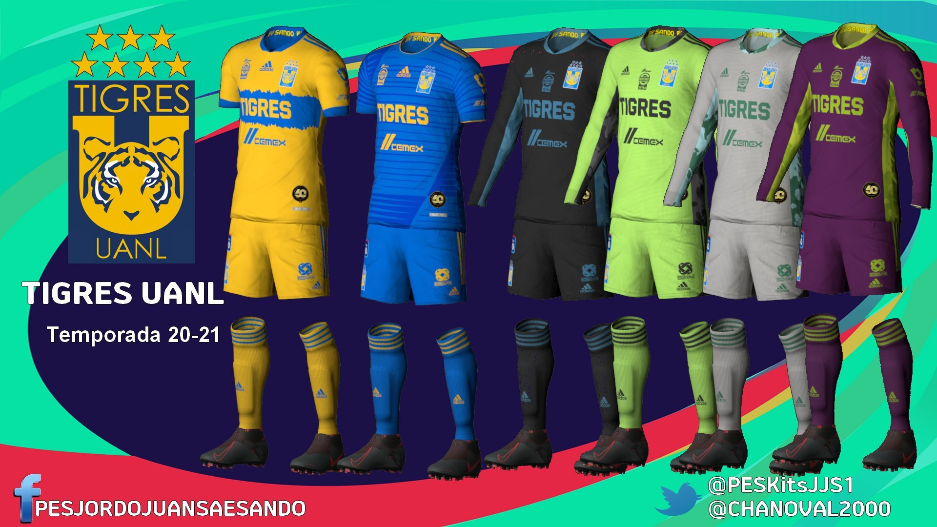 Kits Tigres UANL 2020/2021 by Sando