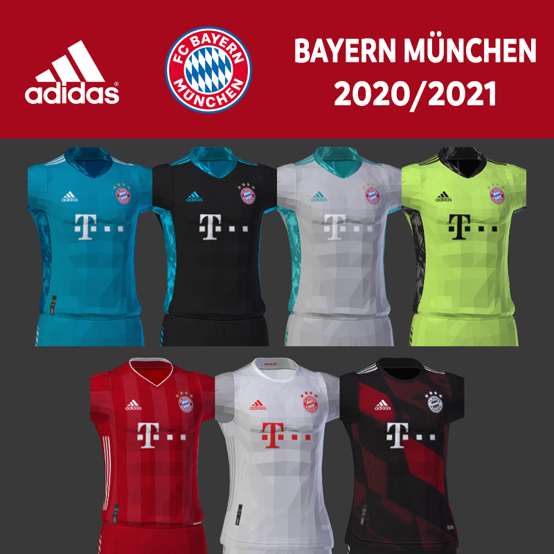 Kits Bayern Munich 2020/2021 by DarkHero93
