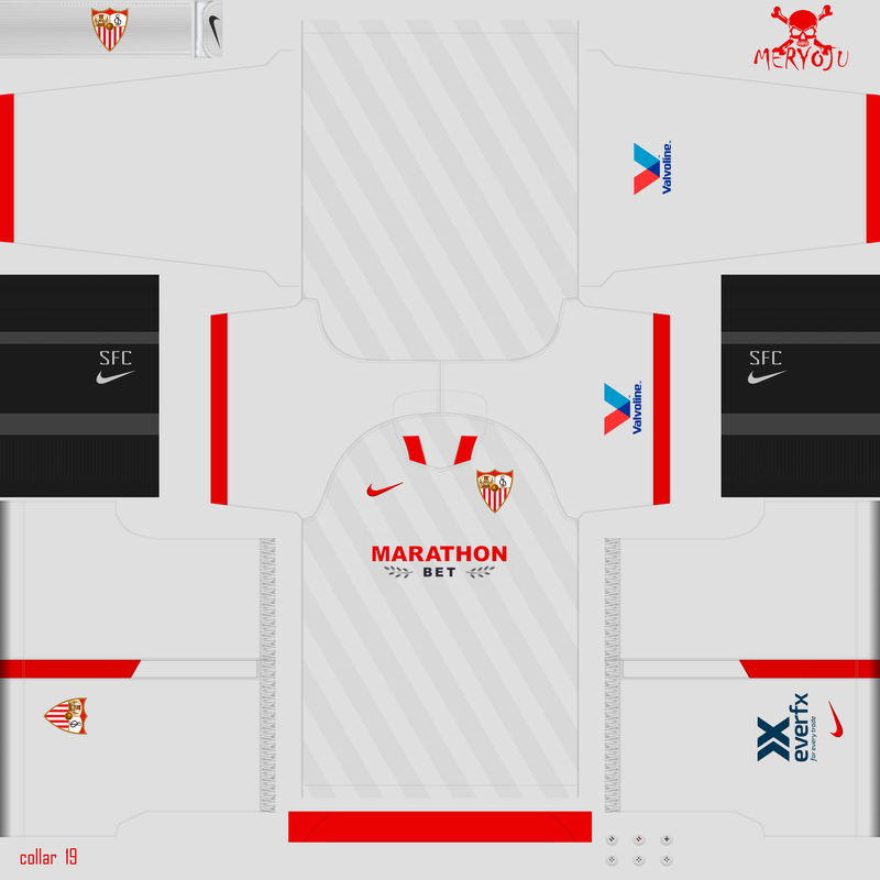 Kits Sevilla FC 2020/2021 by Meryoju