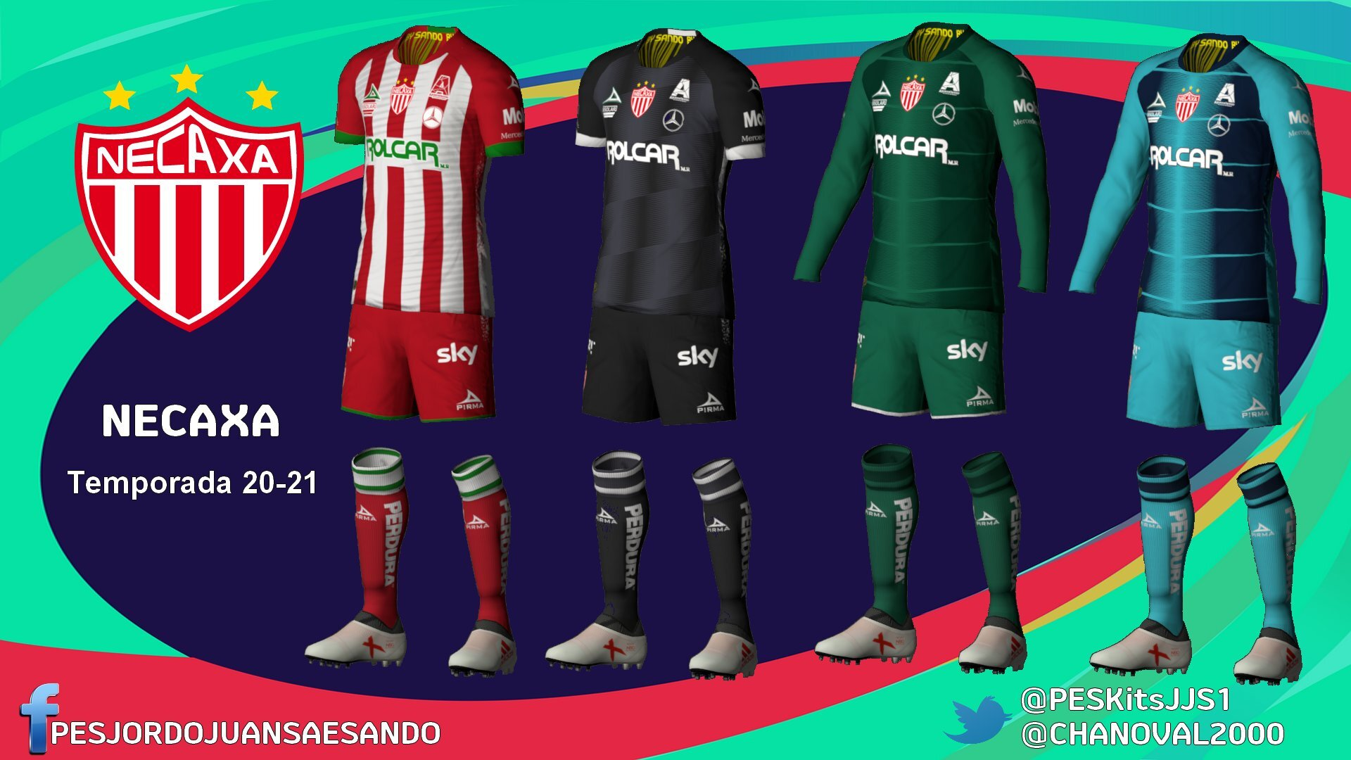 Kits Club Necaxa 2020/2021 by Sando