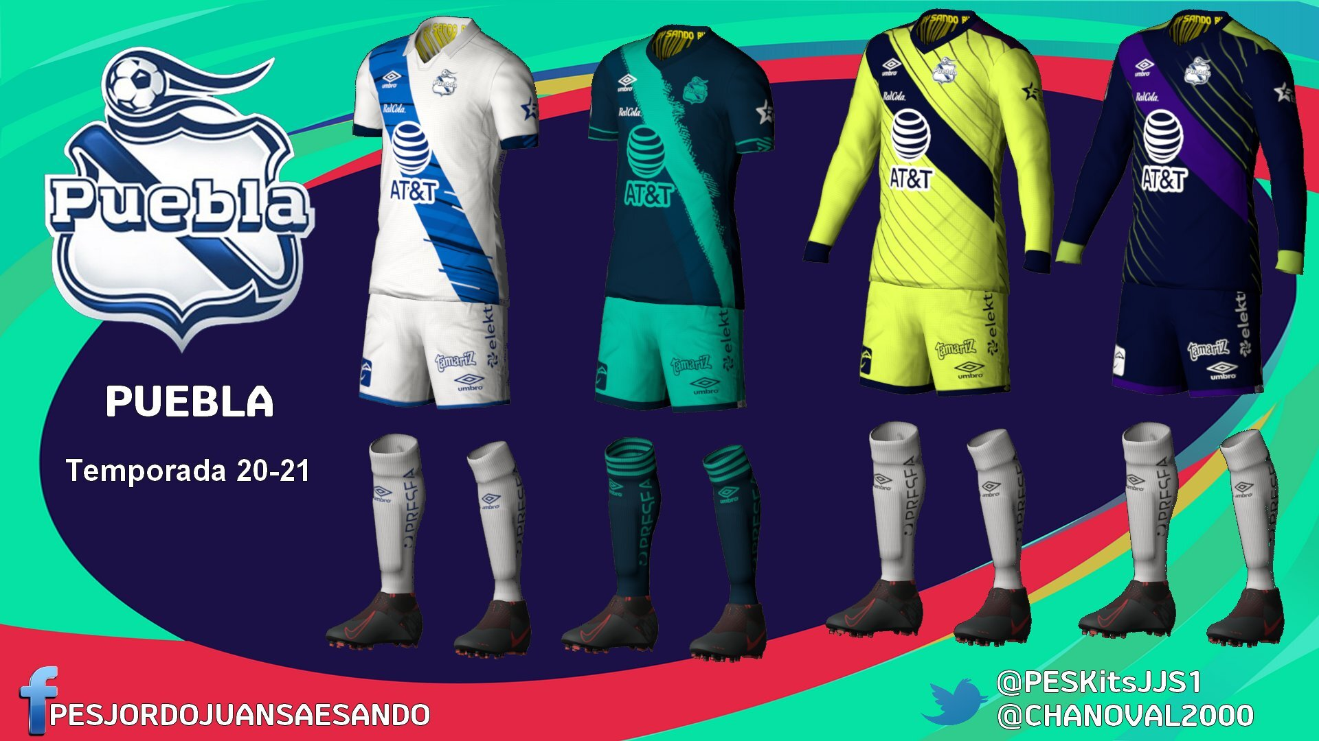 Kits Club Puebla 2020/2021 by Sando
