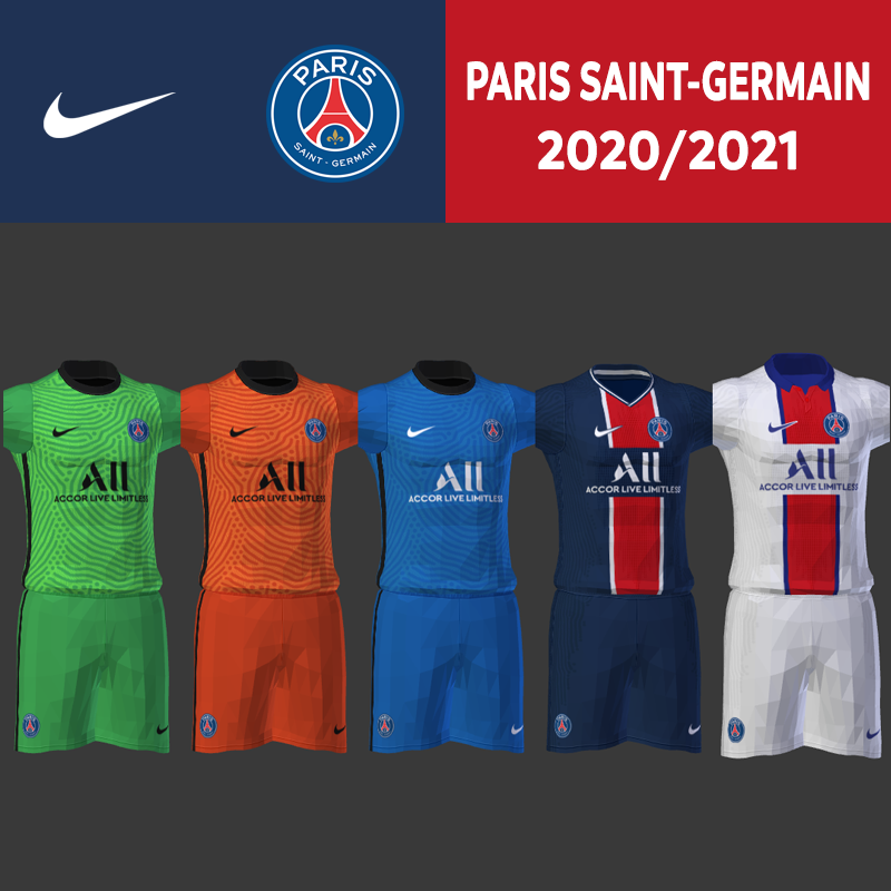 Kits PSG 2020/2021 by Darkhero93