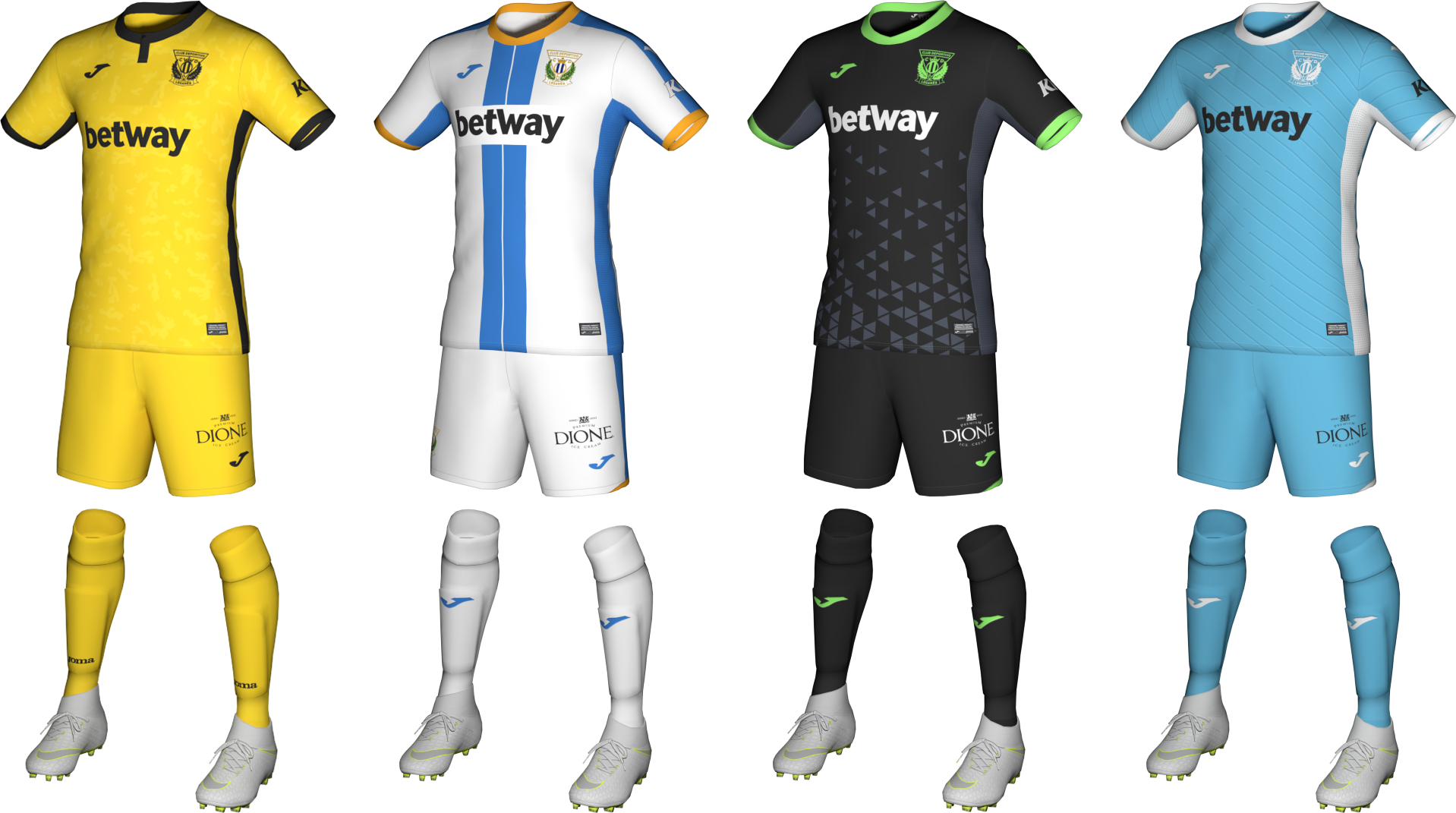 Kits CD Leganés 2020/2021 by Txak