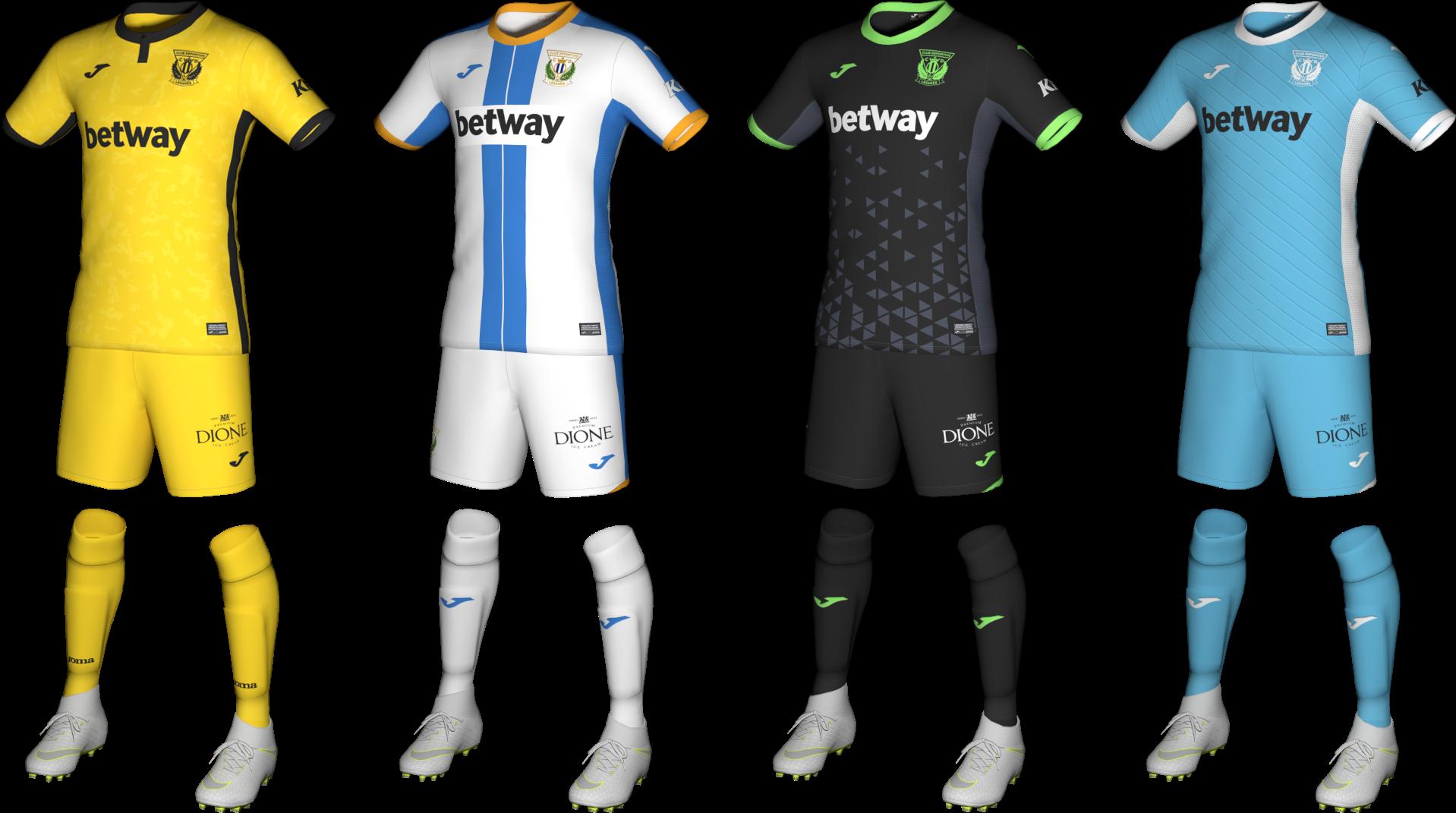 Kits CD Leganés 2020/2021 by Txak