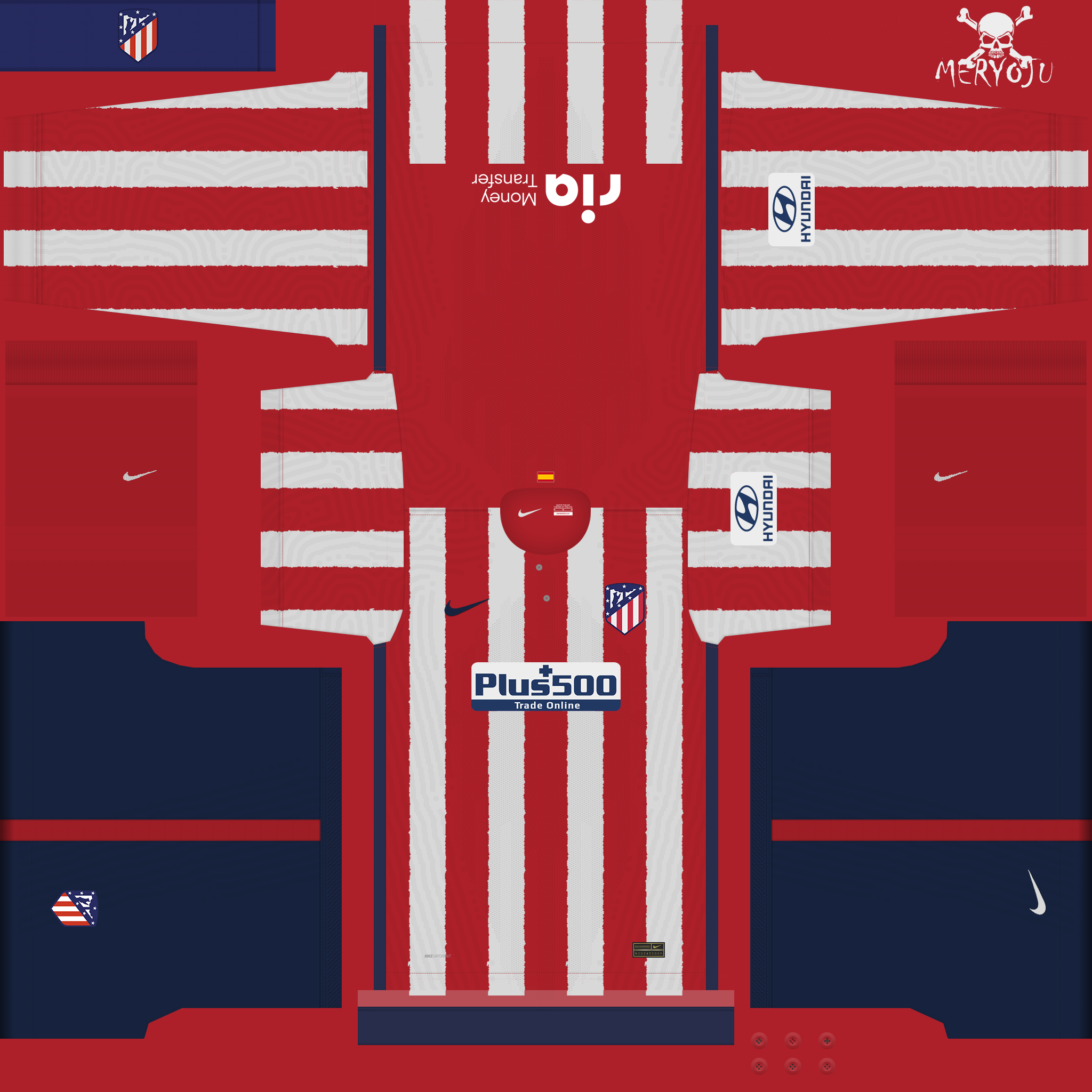 Kits Atlético de Madrid 2020/2021 by Meryoju