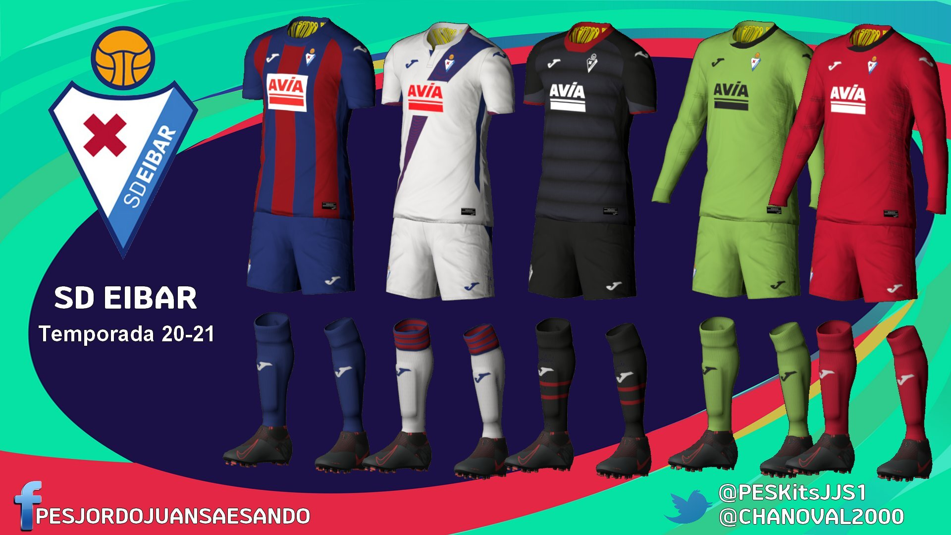 Kits Eibar 2020/2021 by Sando