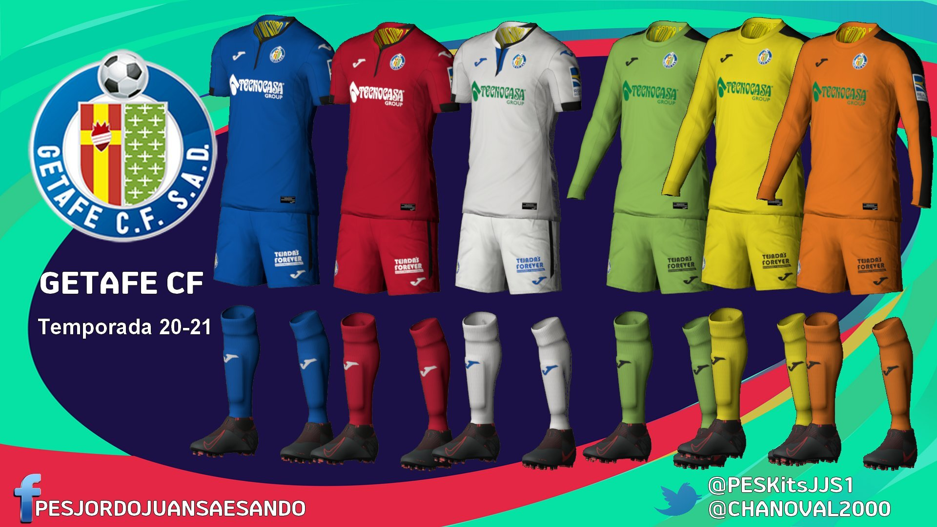 Kits Getafe 2020/2021 by Sando
