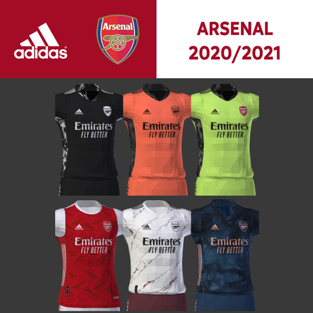 Kits Arsenal 20/21 by Darkhero93