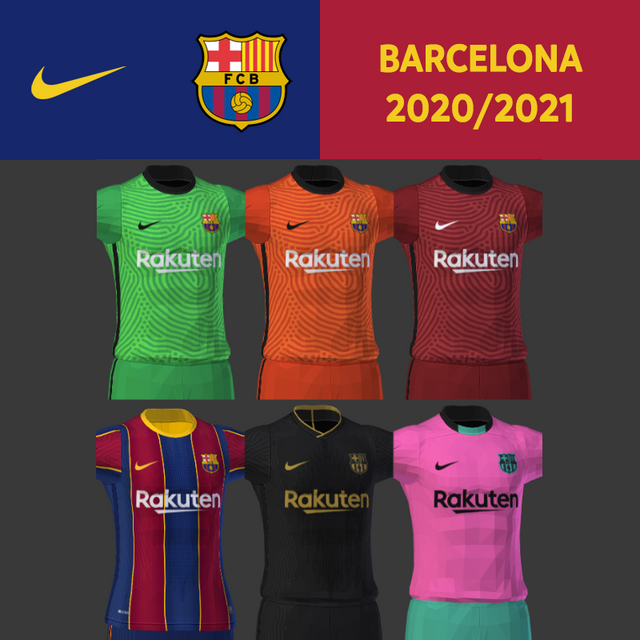 Kits FC Barcelona 20/21 by Darkhero93