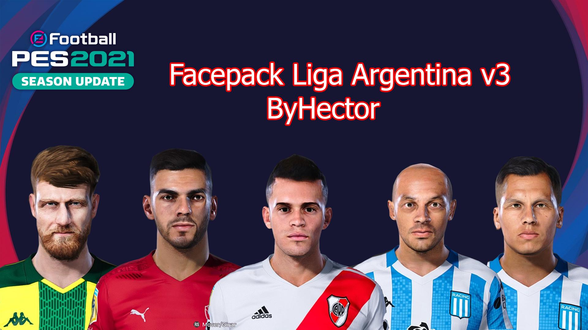 Facepack Liga Argentina v3 by Hectorr